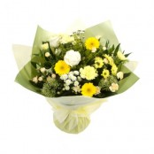 Yellow and White Sunshine Aqua Bouquet Handtied in Water